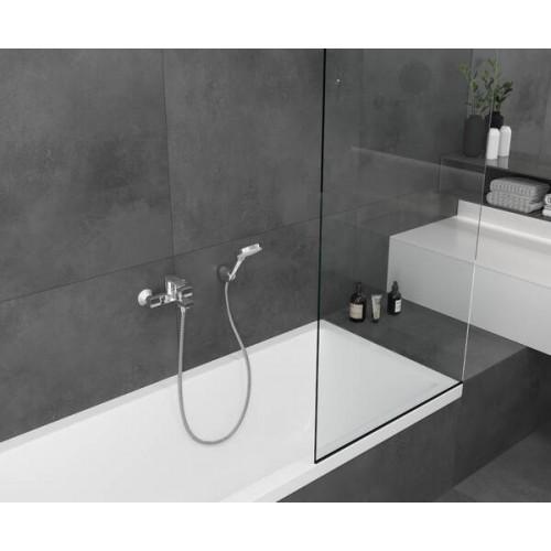 фото - Змішувач hansgrohe Vernis Shape для ванни одноважільний, чорний матовий 71450670