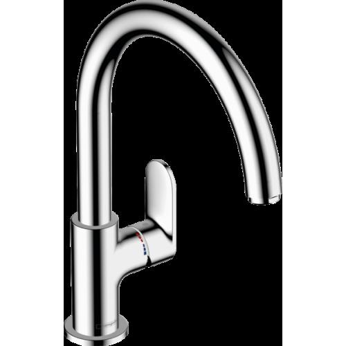 фото - Смеситель hansgrohe Vernis Blend M35 для кухонной мойки, хром 71870000
