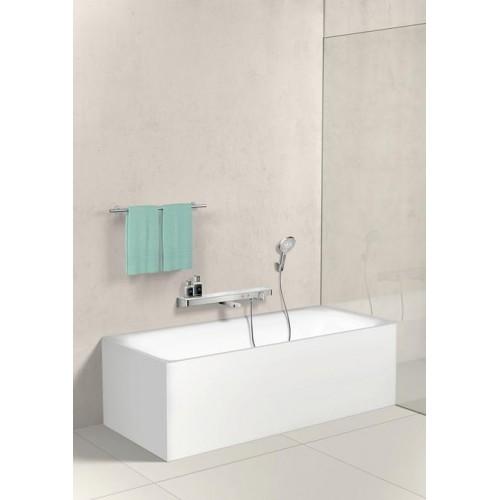 фото -  Термостат hansgrohe ShowerTabletSelect 700 для ванни, білий / хром 13183400