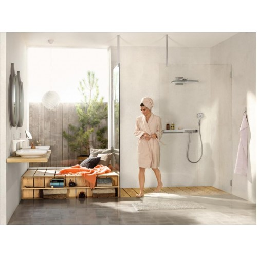 фото - Термостат hansgrohe ShowerTabletSelect 700 для душа, белый/хром 13184400