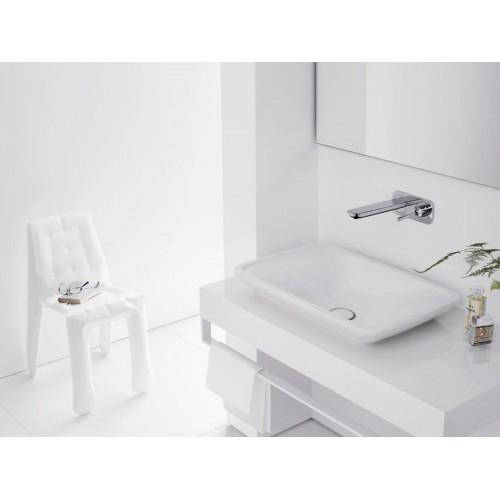 фото -  Змішувач hansgrohe PuraVida для раковини настінний, білий / хром 15084400