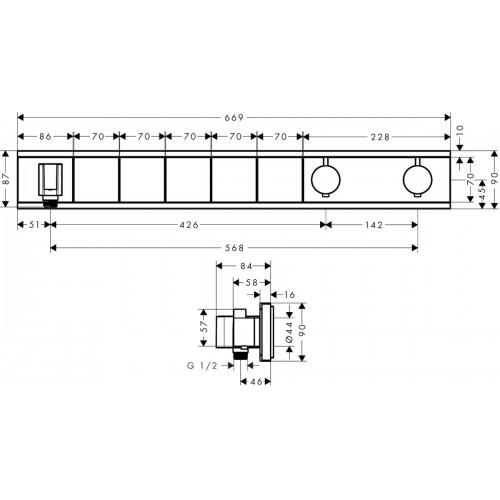 фото -  Термостат hansgrohe RainSelect для 5 споживачів, хром 15358600