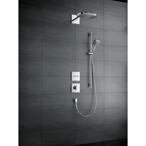 фото - Верхній душ hansgrohe Raindance Select E 300 3jet, хром 26468000