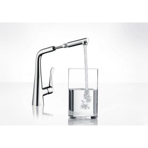 фото - Змішувач hansgrohe Metris для кухонної мийки 14821800