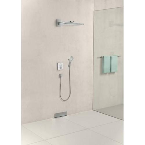 фото - Термостат hansgrohe ShowerSelect Glass для двух потребителей стеклянный, черный/хром 15738600
