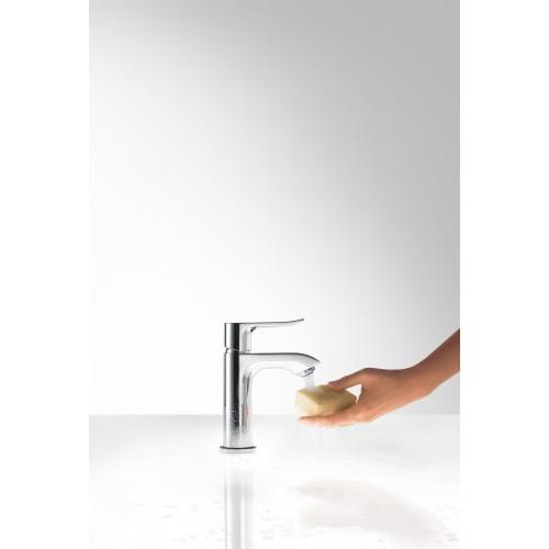 фото -  Змішувач hansgrohe Metris для маленької раковини із зливним гарнітуром, хром 31088000