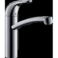 Змішувач hansgrohe Focus E для кухонної мийки з поворотним гусаком, хром 31780000