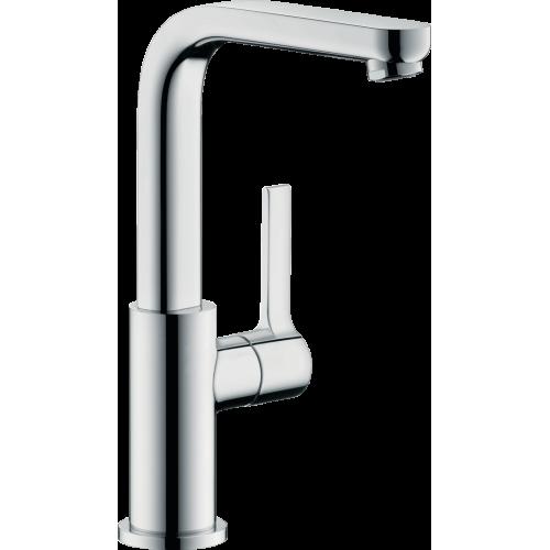фото - Смеситель hansgrohe Metris S для раковины с поворотным изливом и сливным клапаном Push-Open, хром 31161000