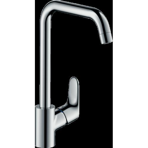 фото - Змішувач hansgrohe Focus для кухонної мийки з поворотним гусаком на 3 положення, хром 31820000
