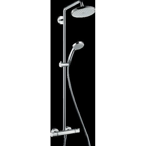 фото - Душова система hansgrohe Croma 220 Showerpipe з термостатом 27185000