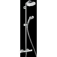 Душова система hansgrohe Croma 220 Showerpipe EcoSmart з термостатом 27188000