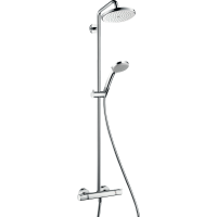 Душевая система hansgrohe Croma 220 Showerpipe EcoSmart с термостатом 27188000