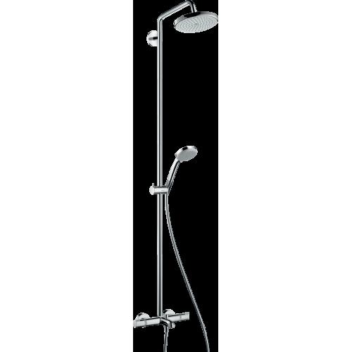 фото - Душова система hansgrohe Croma 220 Showerpipe з термостатом 27223000