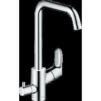 Змішувач hansgrohe Focus E2 для кухонної мийки з запірним вентилем для посудомийної машини, хром 31823000