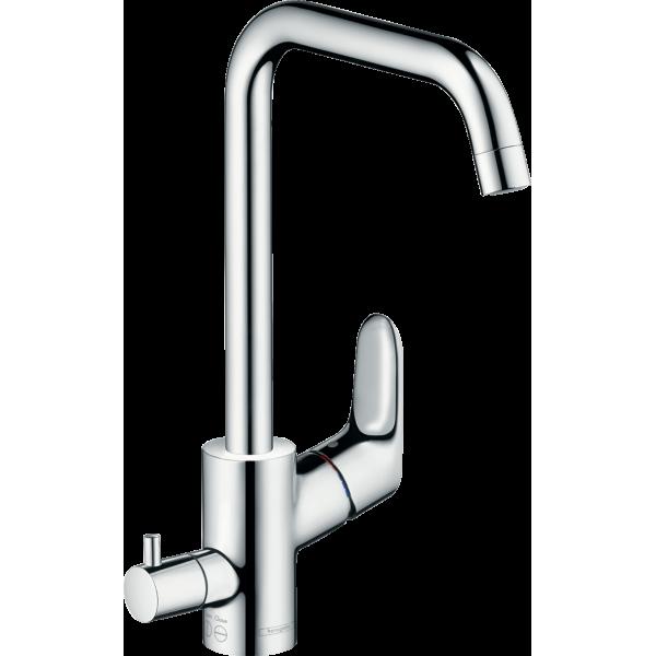 фото - Смеситель hansgrohe Focus E2 для кухонной мойки с запорным вентилем для посудомоечной машины, хром 31823000