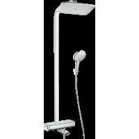 Душевая система hansgrohe Raindance Select E 360 Showerpipe с термостатом для ванны, хром 27113000
