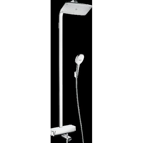 фото -  Душова система hansgrohe Raindance Select E 360 Showerpipe з термостатом для ванни, білий/хром 27113400