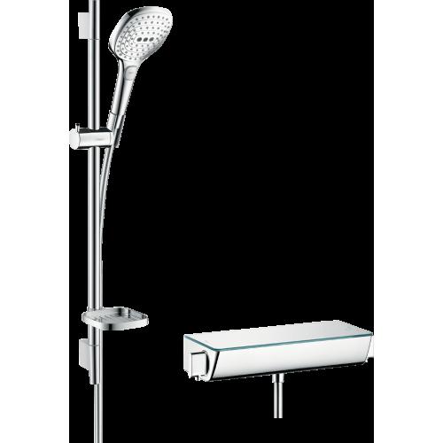 фото - Душевой набор hansgrohe Ecostat Select/Raindance Select E 120 3jet/Combi 27038400