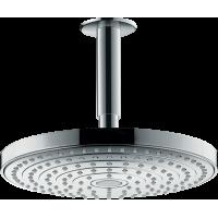 Верхний душ hansgrohe Raindance Select S 240 2jet EcoSmart потолочный, хром 26469000
