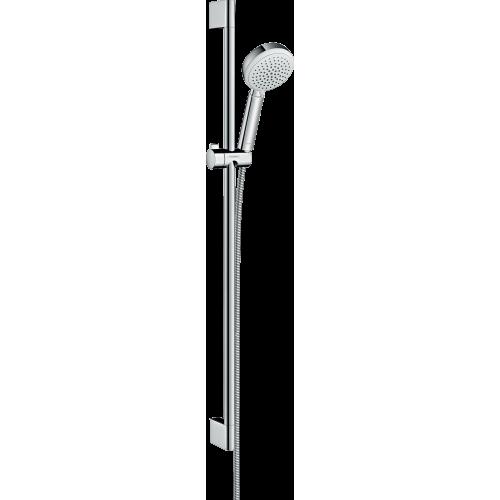 фото - Душовий набір hansgrohe Crometta 100 Vario 90, белый/хром 26657400