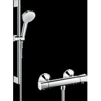 Душевой набор Crometta 100 Vario/Ecostat Universal Combi 0,65 м, белый/хром 27030400