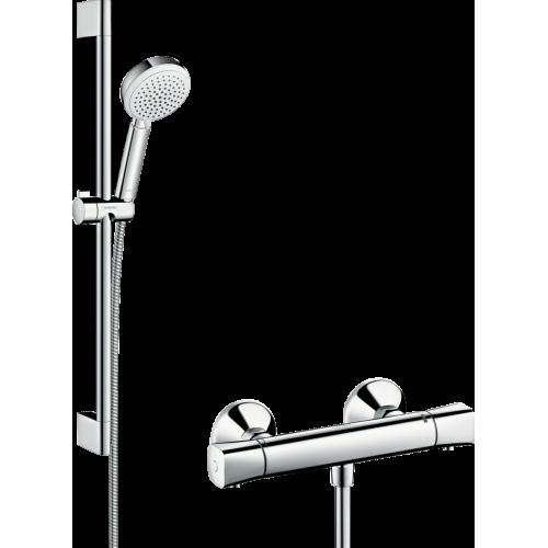 фото - Душевой набор Crometta 100 Vario/Ecostat Universal Combi 0,65 м, белый/хром 27030400