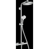 Душова система hansgrohe Crometta S 240 1jet Showerpipe з термостатом, хром 27267000