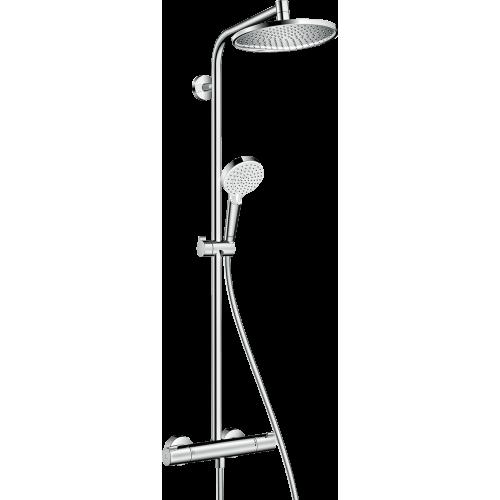 фото -  Душова система hansgrohe Crometta S 240 1jet Showerpipe EcoSmart з термостатом 27268000