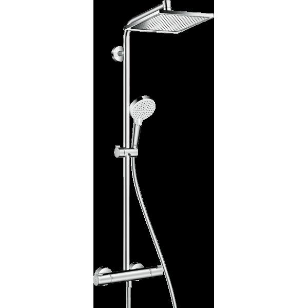 фото - Душевая система hansgrohe Crometta Е 240 1jet Showerpipe с термостатом 27271000