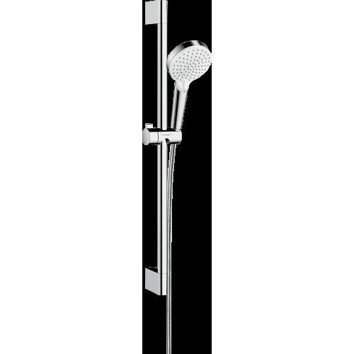 фото - Душовий набір hansgrohe Crometta Vario Green 65, білий/хром 26555400
