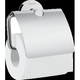 Тримач туалетного паперу Hansgrohe Logis Universal 41723000, з кришкою