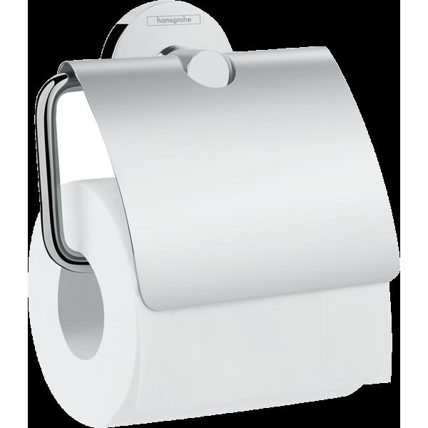 фото - Держатель туалетной бумаги Hansgrohe Logis Universal 41723000, с крышкой