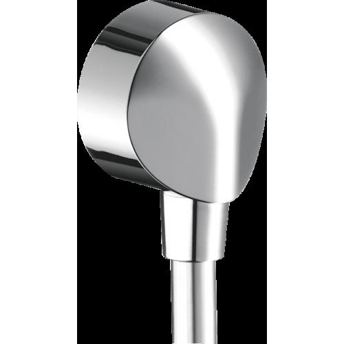 фото -  Шлангове з'єднання hansgrohe Fixfit E без клапану зворотнього току води, хром 27454000
