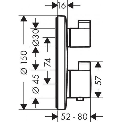 фото - Термостат hansgrohe Ecostat S для душа 15757000
