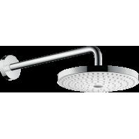 Верхний душ hansgrohe Raindance Select S 240 2jet с держателем 390 мм, белый/хром 26466400