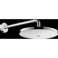 Верхний душ hansgrohe Raindance Select S 300 2jet с держателем 390 мм, белый/хром 27378400