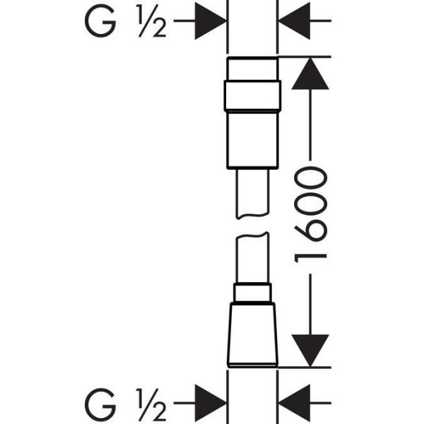 фото - Душевой шланг hansgrohe Isiflex 160 см с регулировкой напора, хром 28248000