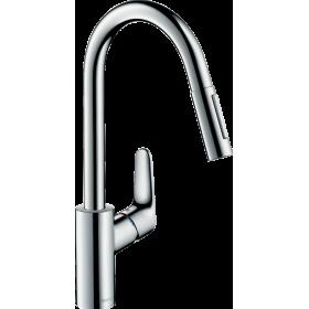 Змішувач hansgrohe Focus для кухонної мийки з висувним душем, хром 31815000