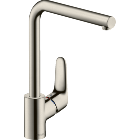 Змішувач hansgrohe Focus  для кухонної мийки з L-подібним поворотним гусаком, сталь 31817800