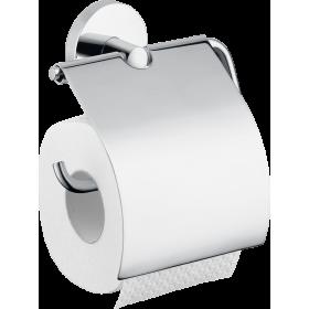 Тримач туалетного паперу hansgrohe Logis з кришкою 40523000