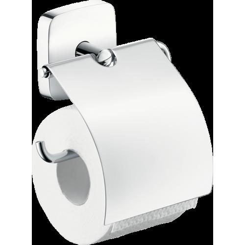 фото - Тримач туалетного паперу hansgrohe PuraVida з кришкою 41508000
