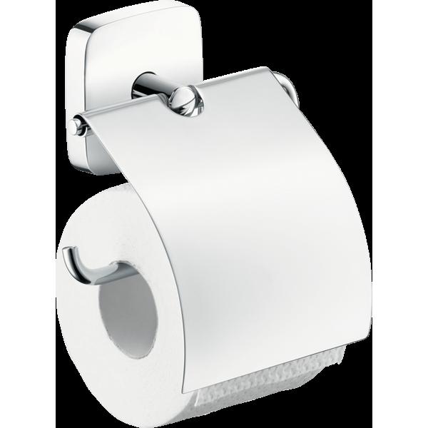 фото - Держатель туалетной бумаги hansgrohe PuraVida с крышкой 41508000