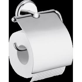 Тримач туалетного паперу hansgrohe Logis Classic с крышкой 41623000