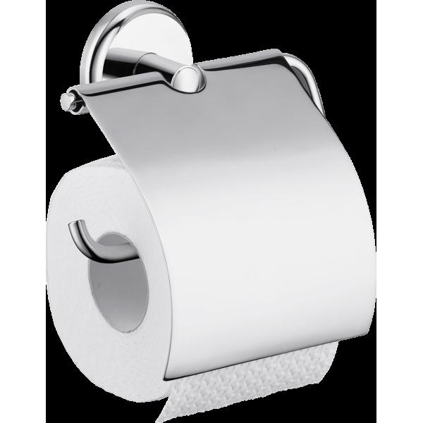 фото - Держатель туалетной бумаги hansgrohe Logis Classic с крышкой 41623000