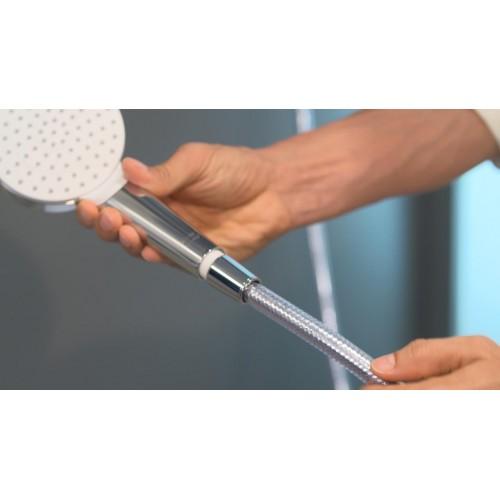фото - Душовий набір hansgrohe Crometta 1jet EcoSmart 90 см, білий/хром 26539400