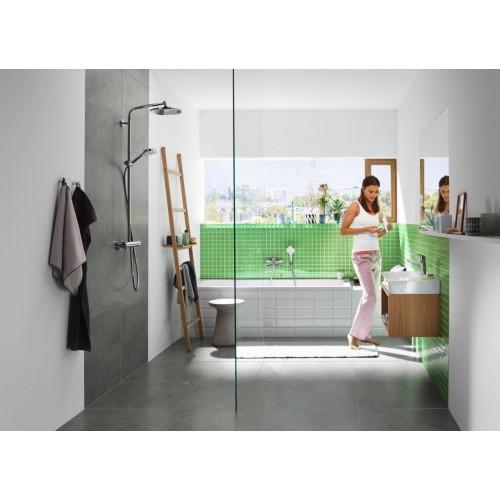 фото - Душовий набір hansgrohe Crometta 1jet 125 см, білий/хром 26690400