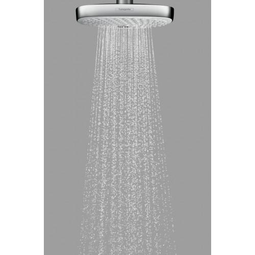 фото - Верхній душ hansgrohe Raindance Select E 300 2jet стельовий, білий/хром 27384400