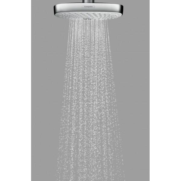 фото - Верхний душ hansgrohe Raindance Select E 300 2jet потолочный, белый/хром 27384400