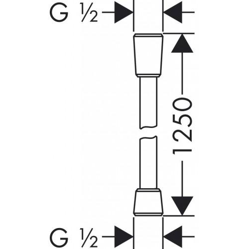 фото - Душовий шланг hansgrohe Comfortflex із захистом від перекручування 125 см, хром 28167000