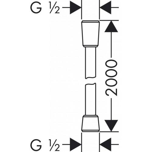 фото - Душовий шланг hansgrohe Isiflex із захистом від перекручування 200 см, хром 28274000